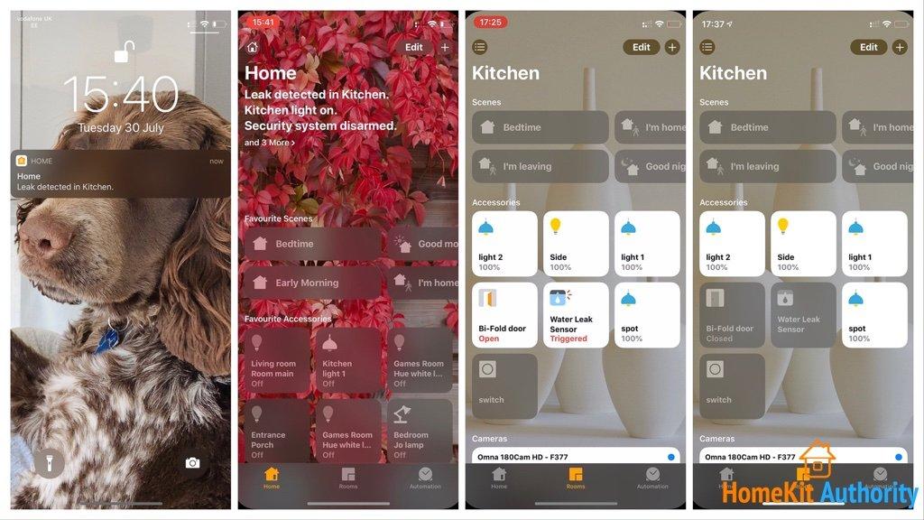 Aqara water sensor in HomeKit app