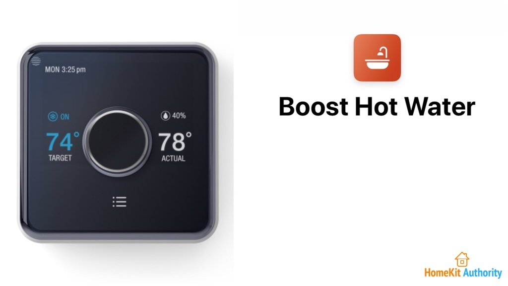 Hive Siri shortcut for hot water