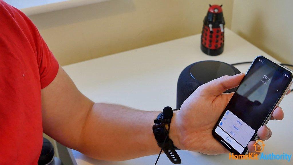 HomePod as speakerphone