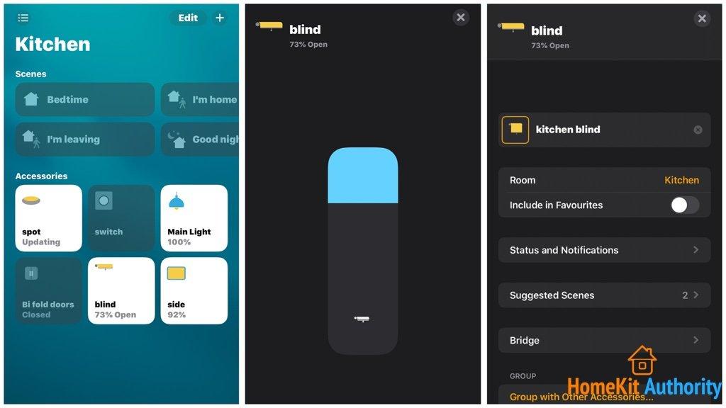 Ikea smart blinds HomeKit control