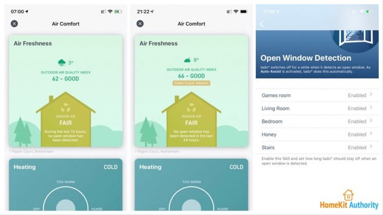Tado open window detection