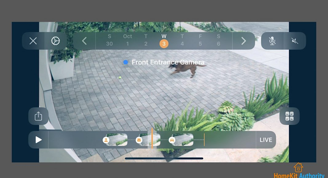 enable HomeKit Secure Video recordings timeline