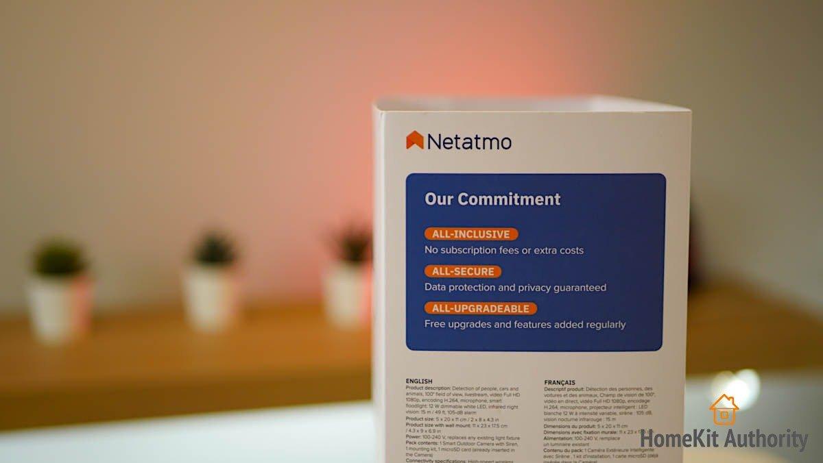 Netatmo smart ourdoor camera siren subscription