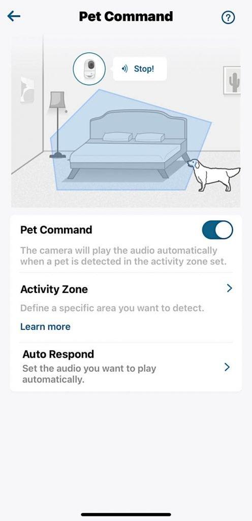 eufy indoor camera pet command