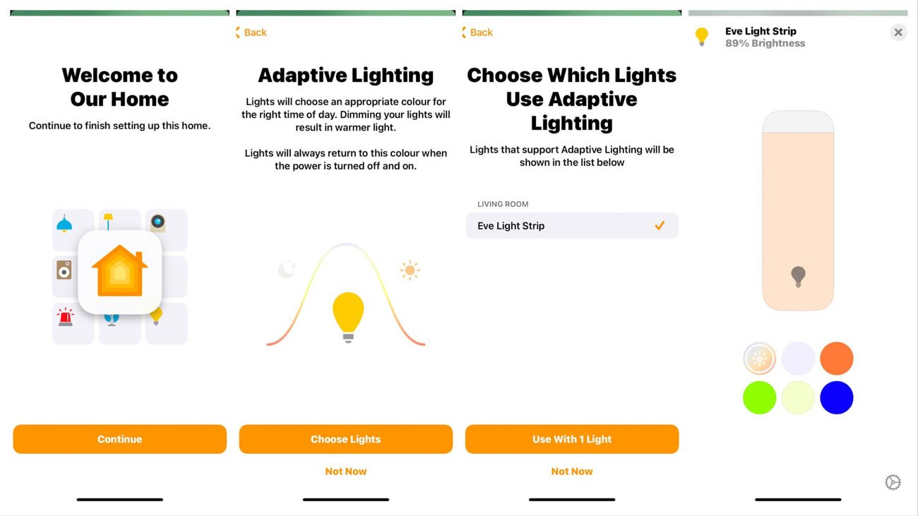 Enable adaptive lighting eve light strip