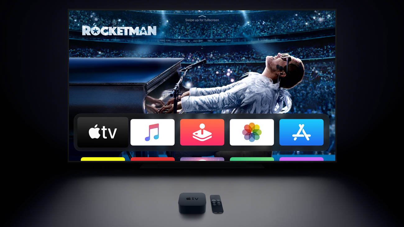 Apple TV 4K home theatre with HomePod