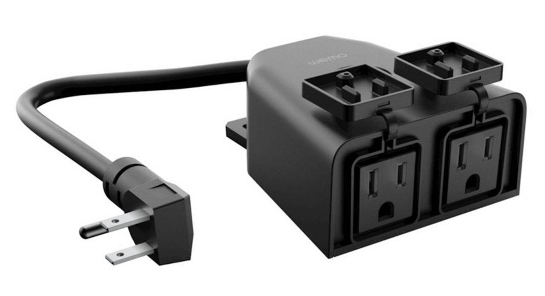 Wemo smart outdoor plug with HomeKit