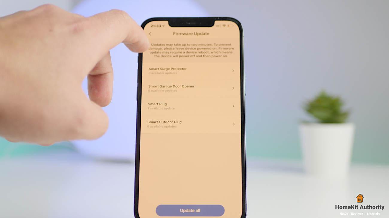 Meross smart power strip app