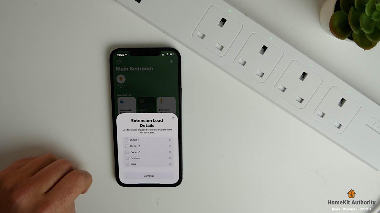 Meross smart power strip HomeKit setup
