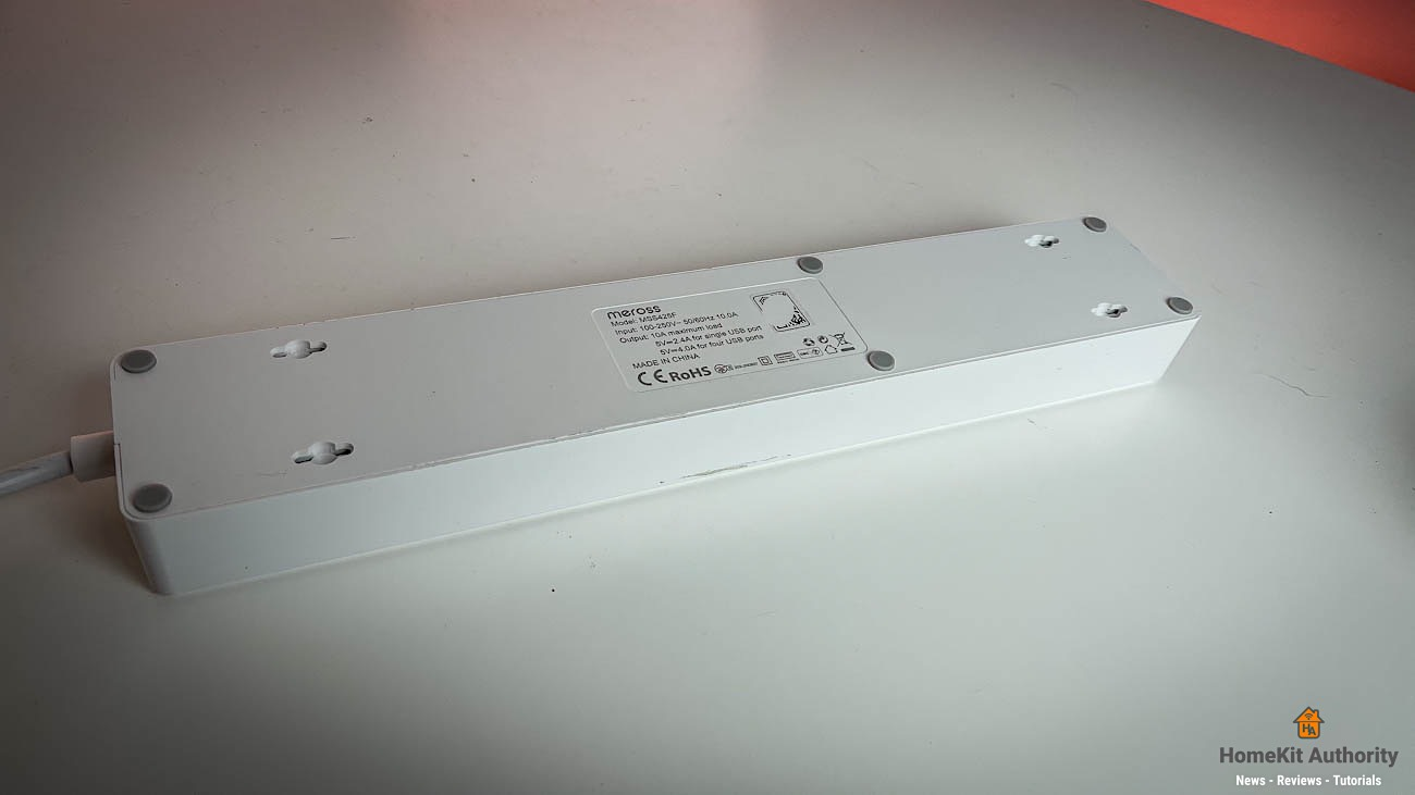 Meross smart power strip rear