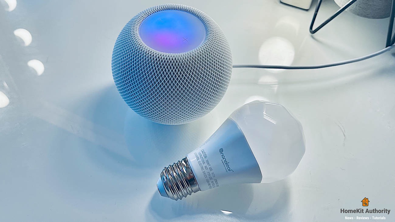 Nanoleaf essentials smart bulb thread with HomePod mini