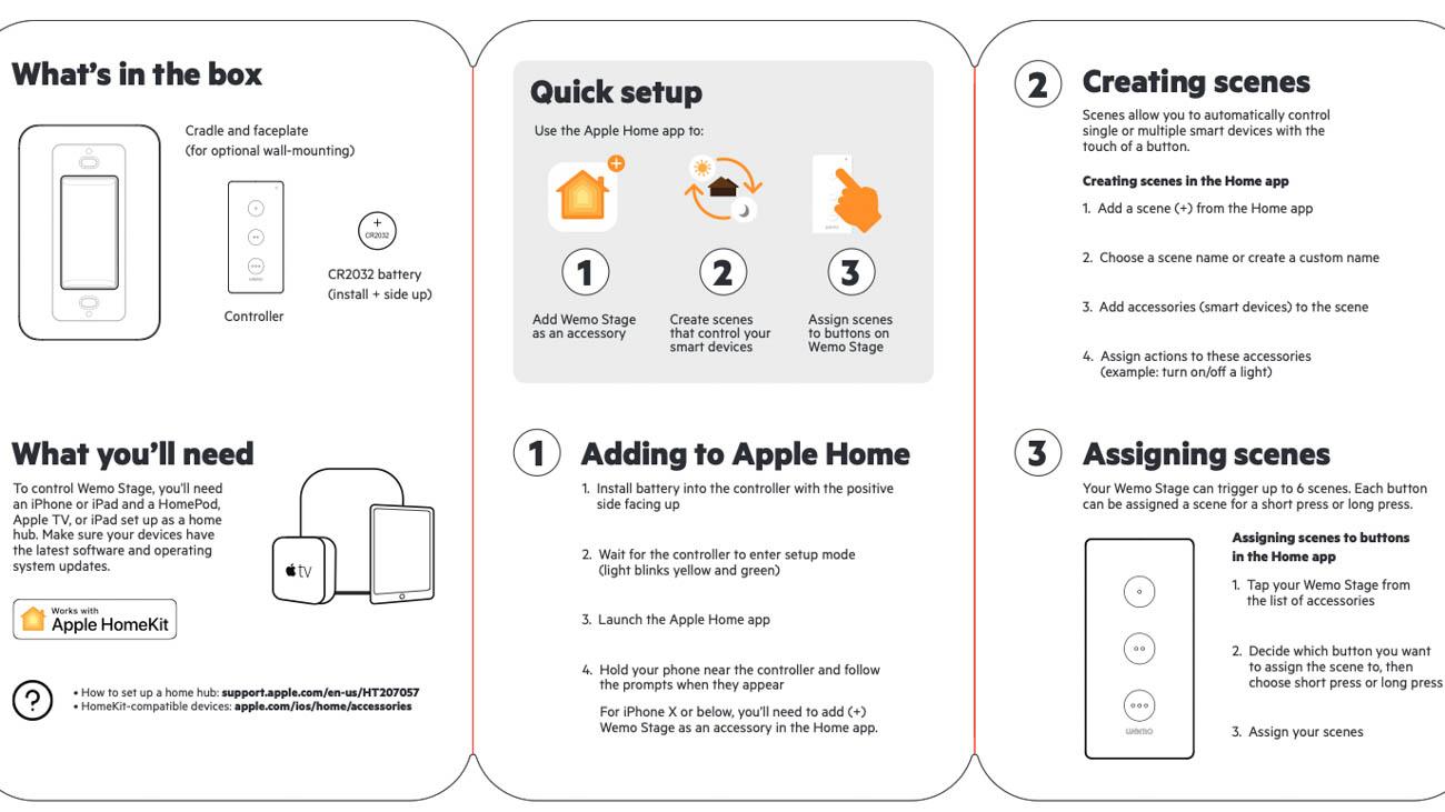 Belkin Wemo stage switch HomeKit user guide