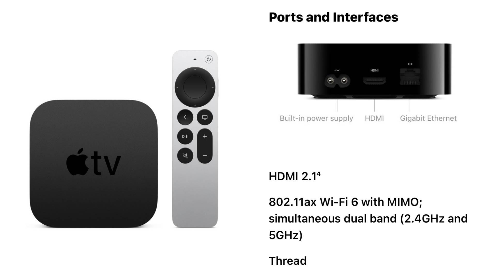 Apple TV 4K Thread support HomeKit