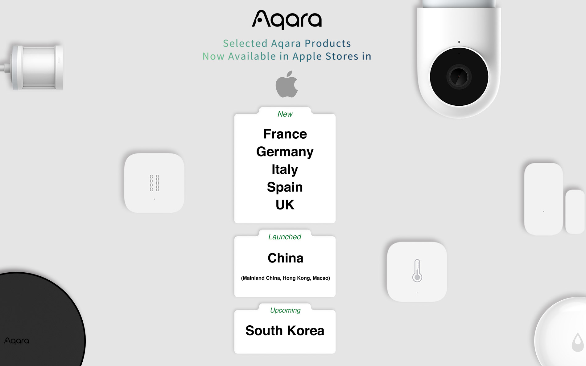 Aqara Available in the UK and EU Apple Stores