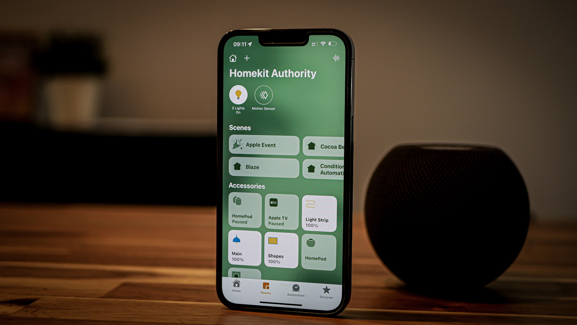 HomeKit on a iPhone with HomePod and iOS15